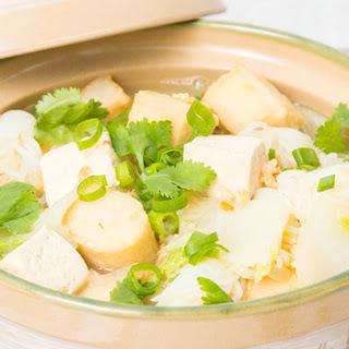 Easy Napa Cabbage Tofu Soup