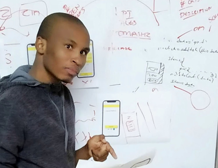 James Baloyi and fellow developer Derik Sadiki recently created a mobile app called DCHECK, which seeks to create a safer experience for users of e-hailing services.
