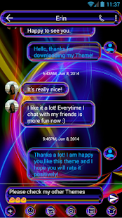 SMS Messages Neon Multi Theme - náhled