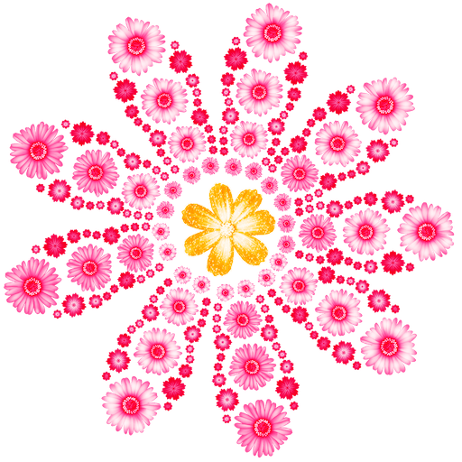 Flowers Art: Color by Number, Coloring Book Pages Icon