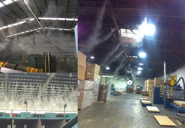 Máy phun sương công nghiệp có tác dụng làm mát môi trường không khí
