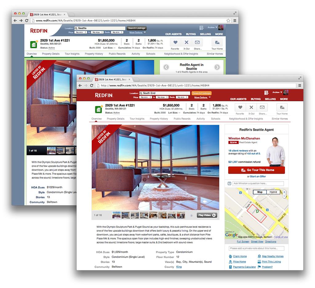 Redfin Website Redesign