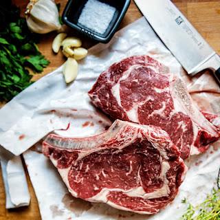 Perfect Pan Seared Ribeye Steaks.