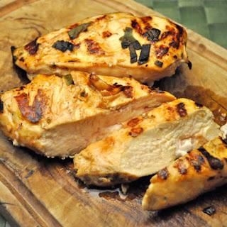 Grilled Chicken Breasts, Lemon, Sage