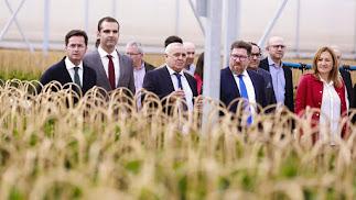Sánchez Haro y los alcaldes de Almería, El Ejido y Níjar en el semillero