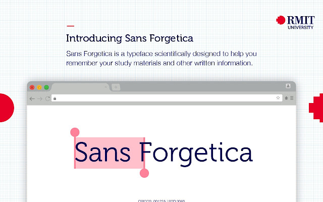 Sans Forgetica: Study Mode by RMIT University Screenshot