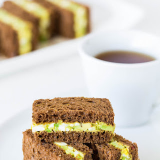 Spicy Avocado Egg Salad Tea Sandwiches.
