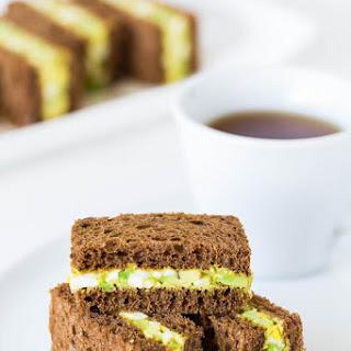 Spicy Avocado Egg Salad Tea Sandwiches.