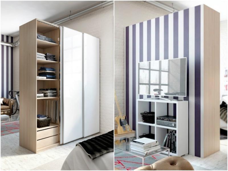 separar ambientes con un armario