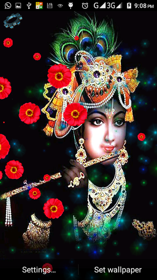 4d krishna live wallpaper android apps on google play