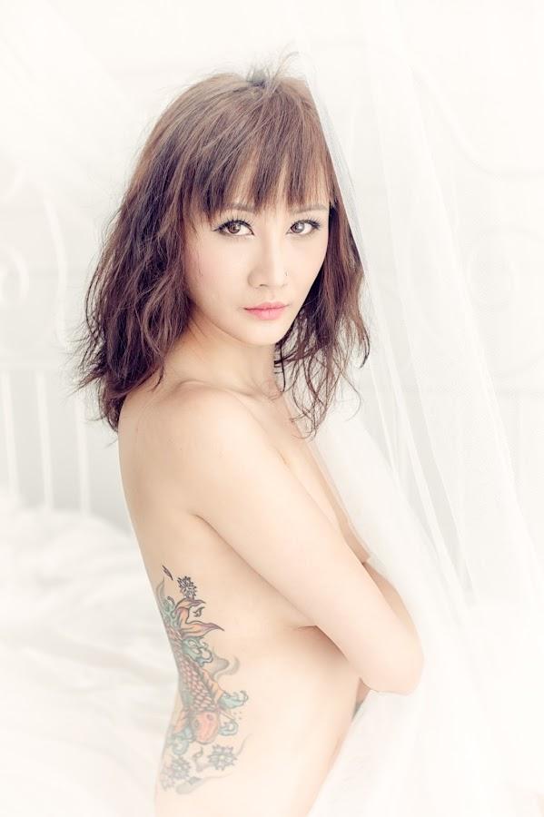 Moon by Francis Ho - People Body Art/Tattoos ( body, face, model, elegance, beautiful, body art, sensuality, beauty, people, chinese, portrait, eyes, glamour, girl, female, elegant, woman, lips, hot, tattoo, light, hair,  )