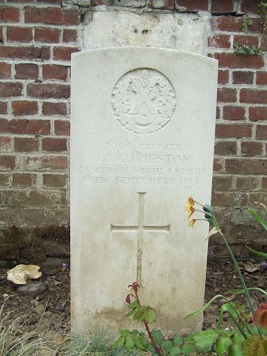 James Laurieston grave