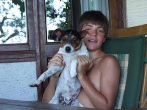Photo: Dann ist da Sohn Nicola mit Hund Willi ... [Foto: Sofia Rastelli]