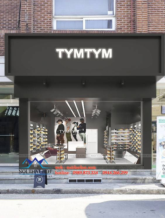 thiết kế shop giày nam 1