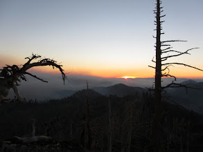Photo: Sunset from the west ridge of Mount Hawkins