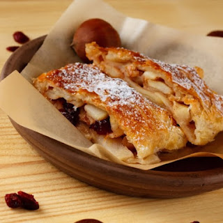 Puff Pastry Apple And Raisin Strudel.
