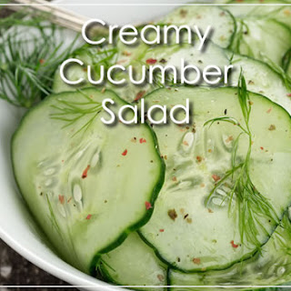 Creamy (yet Paleo) Cucumber Salad
