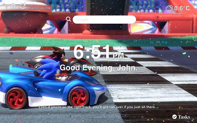 Team Sonic Racing Wallpapers New Tab