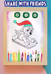 How to color Paw Patrol coloring book for adult - Android Apps on ...