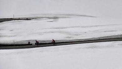 Photo: In den Schneefeldern.