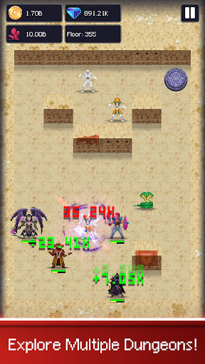 Dunidle: Dungeon Crawler & Idle Hunter Boss Heroes apktreat screenshots 1