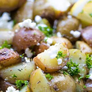 Grilled Greek Potatoes In Foil.