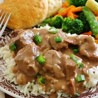 Crock Pot Beef Tips and Gravy.