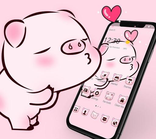 Pink Cute Love Piggy Theme 1.1.9 1