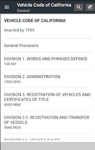California Vehicle Code - náhled