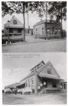 Photo: 1914 Fabriek opgericht in 1911. Bovenste foto, fabriek en rechts de directeurswoning. Onder- de fabriek, nog zonder aanbouw