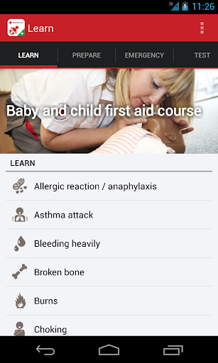 Baby and Child First Aid screenshot for Android