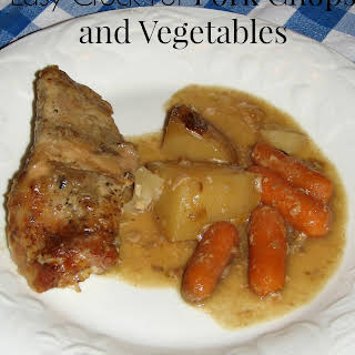 Easy Crock-Pot Pork Chops and Vegetables.