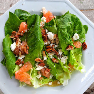 Little Gem Salad with Feta, Grapefruit, and Toasted Pecans