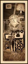 Photo: Antonio Berni Ramona costurera 1963. Xilocollage. Matriz xilográfica: 142,2 x 54,8 cm. Estampa: 149,2 x 61,8 cm. The Museum of Fine Arts, Houston, EE.UU. Expo: Antonio Berni. Juanito y Ramona (MALBA 2014-2015)