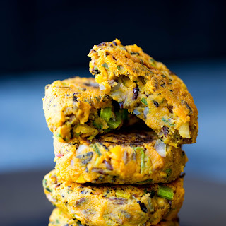 Sweet Potato and Black Rice Veggie Patties.