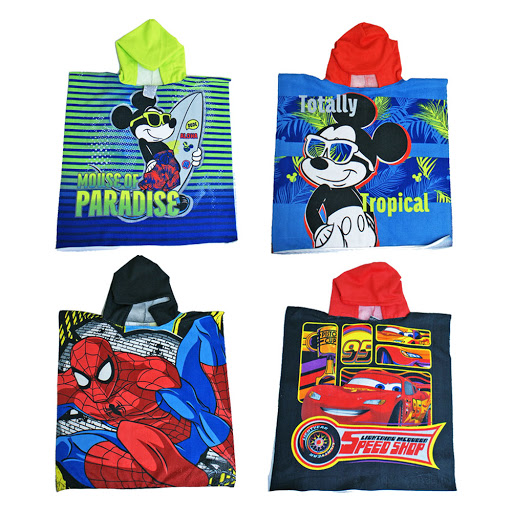 poncho de bano spiderman / cars / aviones / mickey / avengers jetbag