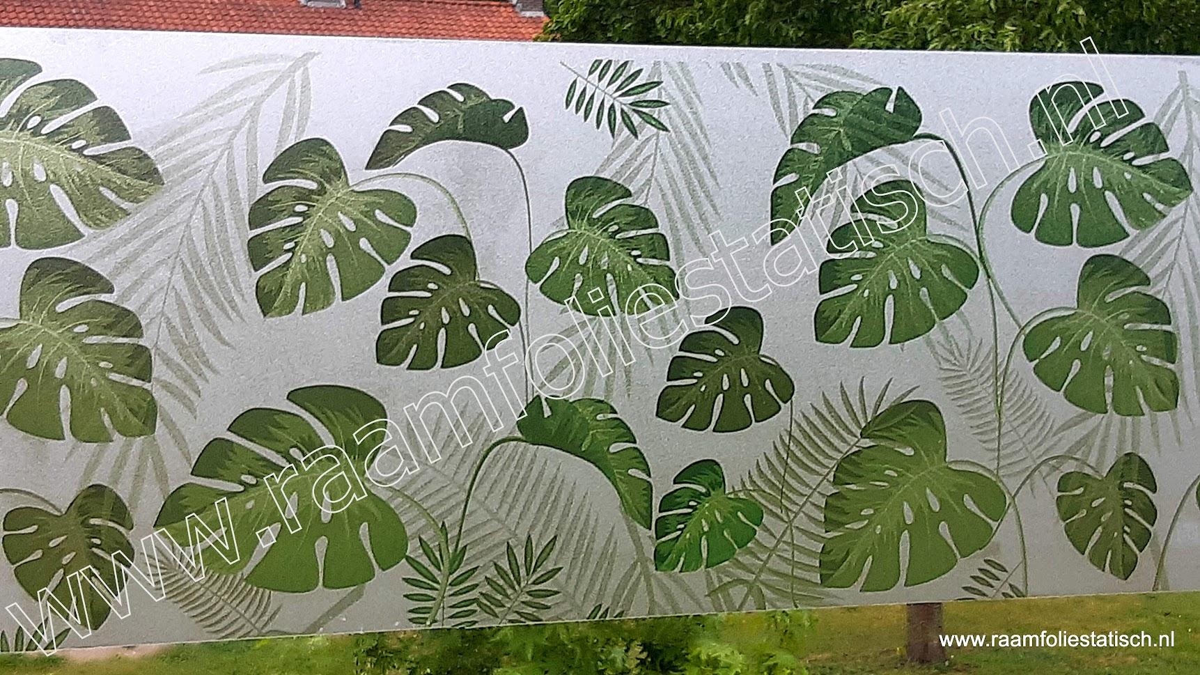 Raamfolie statisch tropische bladeren Linea fix