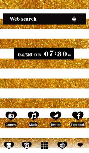 Gold glitter pattern 壁紙きせかえ
