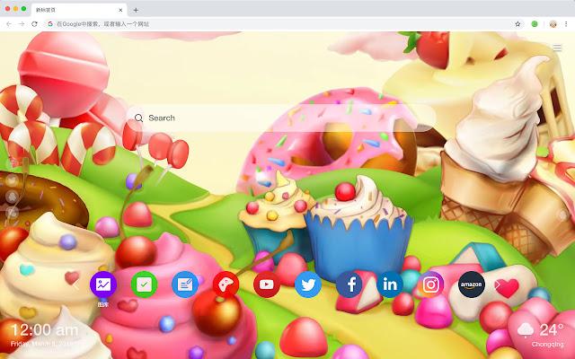 糖果园 热门色彩 高清壁纸 新标签页 主题