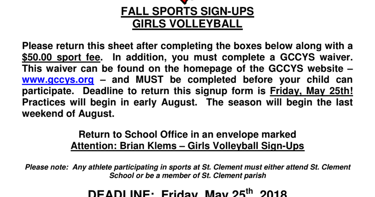 girls volleyball signup 2018 pdf google drive