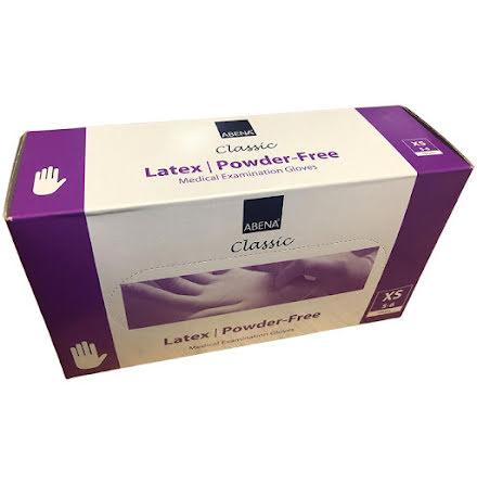 Latexhandske Abena Puderfri 100-pack (Flera storlekar)