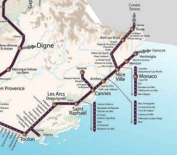 Поезда по Лазурному берегу Франции - Поезда Прованса