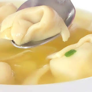 Homemade Won Ton Soup.
