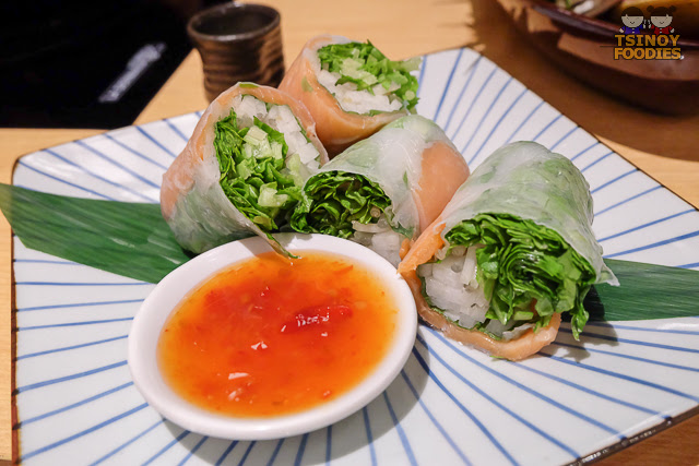 smoked salmon spring roll