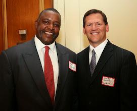 Photo: Judge Ken Desmond (Superior Court) and Gerry Leone (Nixon Peabody).