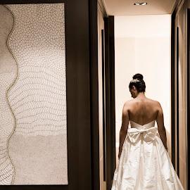 Elegance by Laura Ushay - Wedding Bride ( wedding, artistic, soft light, moody, gown, bride )