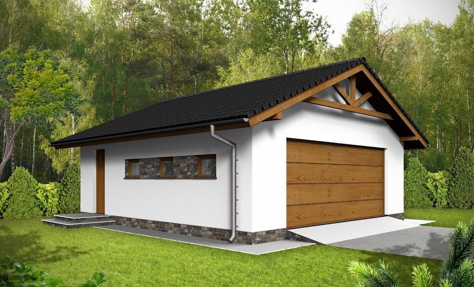 Wizualizacja projektu tygodnia - Garaż G6 (TPD-732)