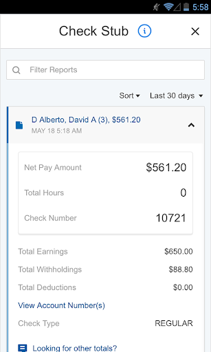 Paychex Flex screenshot