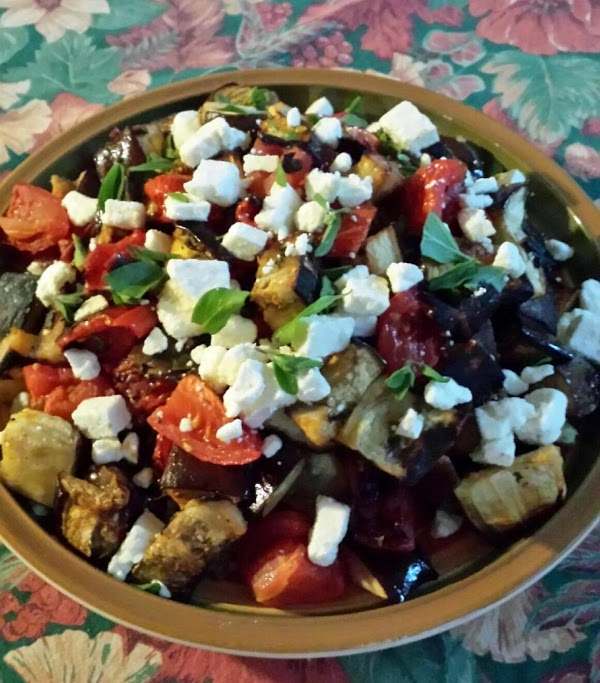 Herb-roasted Eggplant With Tomatoes And Feta Recipe