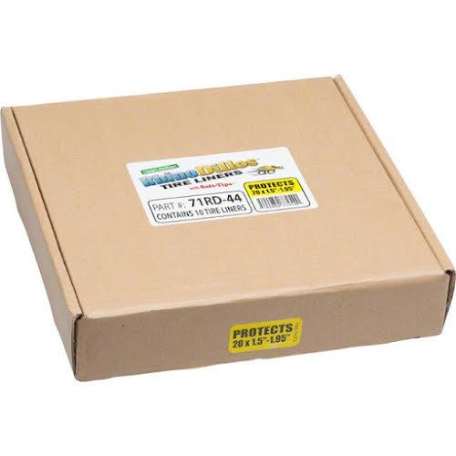 Rhinodillos Tire Liner: 20x1.5-1.95 Yellow, Packaged in Bulk Box of 10